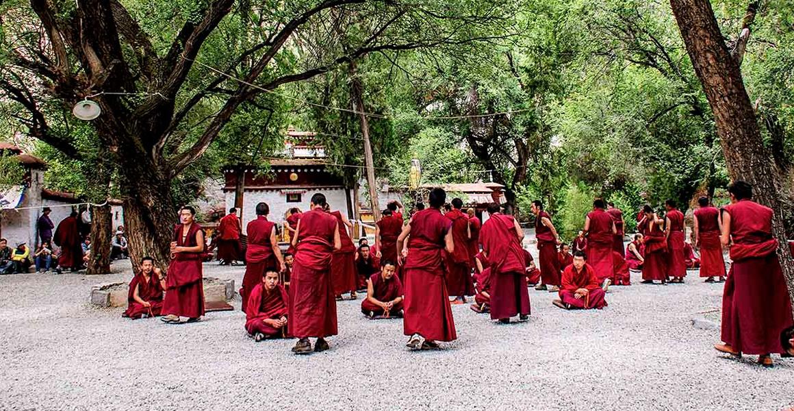 Lamas' Debating in Sera Monastery